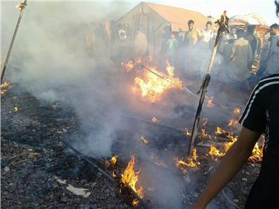حريق بمخيم في البوسنة