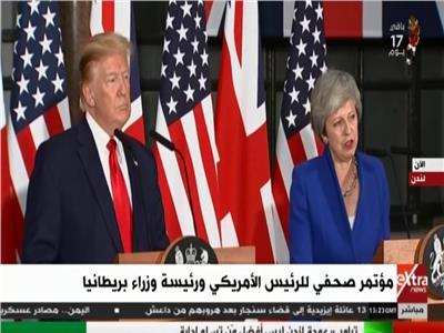 مؤتمر صحفي للرئيس الأمريكي ورئيسة وزراء بريطانيا
