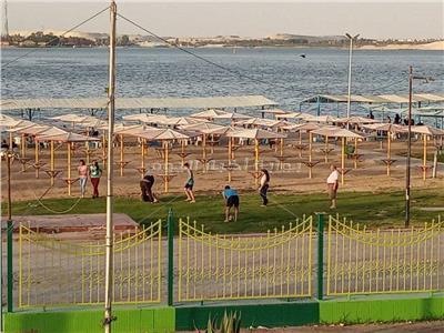 إقبال على شواطئ وحدائق الإسماعيلية للاحتفال بعيد الفطر المبارك