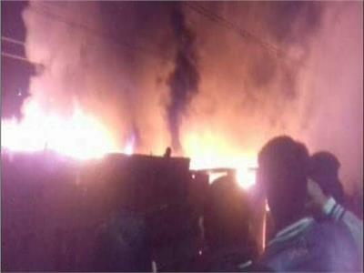 اصابة 9 اشخاص باختناق فى حريقين بمخزنين بالشرقية