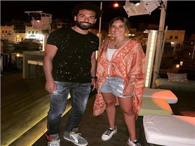 أمينة خليل تظهر مع محمد صلاح في الغردقة