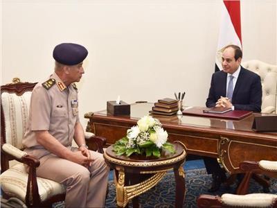 الرئيس عبدالفتاح السيسي و الفريق أول محمد زكى