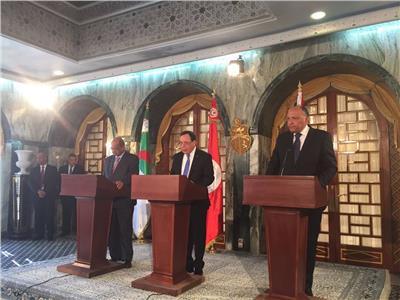 وزراء خارجية مصر وتونس والجزائر