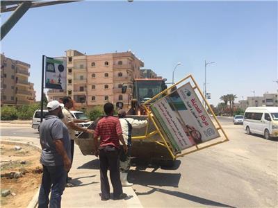 جهاز تنمية مدينة السادات يشُن عدة حملات لإزالة التعديات والإشغالات