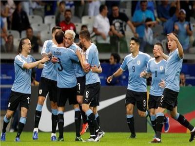 فرحة لاعبي منتخب أوروجواي