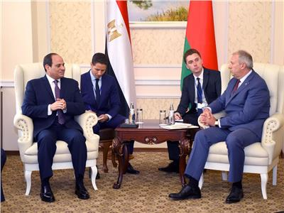 الرئيس عبدالفتاح السيسي  مع رئيس وزراء بيلاروسيا