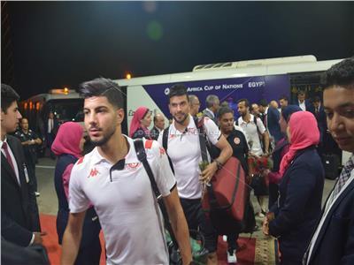 وصول نسور قرطاجمطار القاهرة استعداداً لبطولة كأس الأمم الأفريقية
