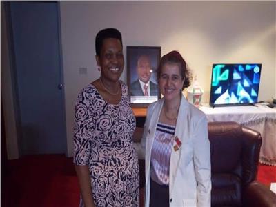 سيدة بوروندي الأولى تزور مصر