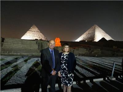 خلال للقاء رئيسة البرلمان الصربي مع رئيس شركة مصر للصوت