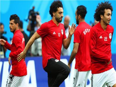 صورة من تدريبات منتخب مصر