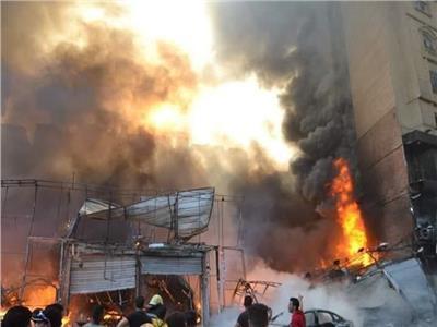 حريق محلات في الهرم