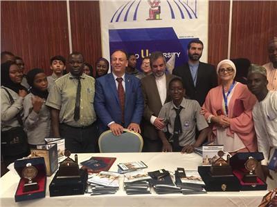مشاركة كبيرة لجامعة القاهرة فى المعرض التعليمي الثاني للجامعات المصرية بنيجيريا