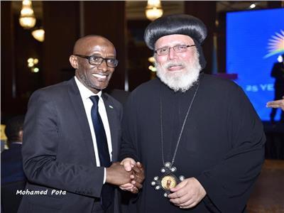 الكنيسة الارثوذكسية تشارك في حفل سفارة رواندا