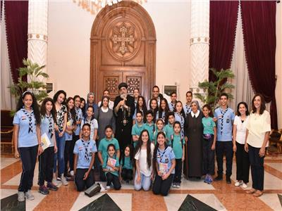 البابا تواضروس يستقبل مكرسات مدرسة جبل المقطم