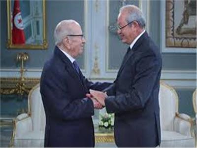 نجيب ساويرس والرئيس التونسي السبسي