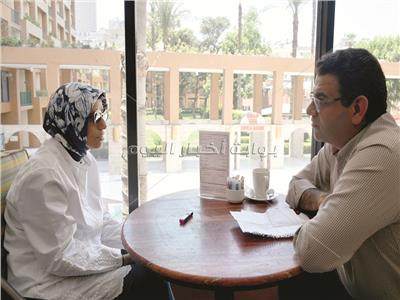 هدى نجيب محفوظ خلال الحوار - تصوير: السيد الأحمر