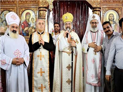 بطريرك الكاثوليك يدشن كنيسة مارجرجس بنجع الدك