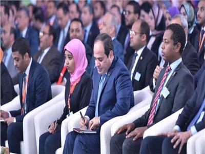 الرئيس السيسي في أحد مؤتمرات الشباب السابقة