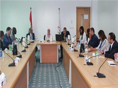 خلال لقاء ايتيدا و وفد المنظمة الدولية للفرانكفونية