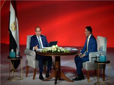 الرئيس عبد الفتاح السيسي خلال جلسة اسأل الرئيس