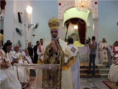 حفل تجليس الأنبا باسيليوس مطراناً للأقباط الكاثوليك بسوهاج