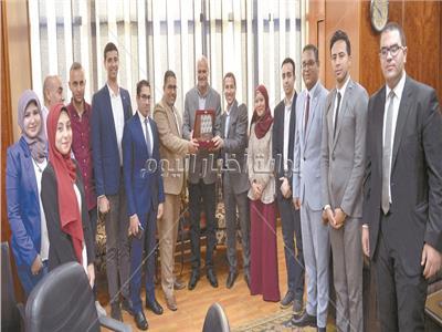 شباب نموذج المحاكاة، بحضور الكاتب الصحفى خالد ميرى