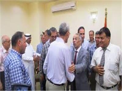قيادات محافظة شمال سيناء ومشايخ القبائل وذوو القدرات الخاصة يهنئون المحافظ بالعيد