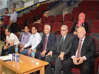 مبارك يشهد بروفات افتتاح أسبوع شباب الجامعات الثاني لمتحدى الإعاقة