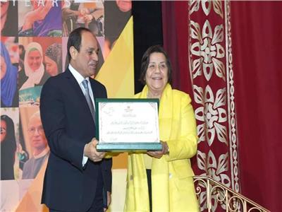 الرئيس عبد الفتاح السيسي ولولا زقلمة - صورة أرشيفية