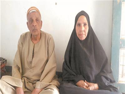 والدا الشهيد أشرف غانم ابن الفيوم