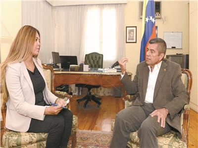 سفير فنزويلا  بالقاهرة خلال الحوار