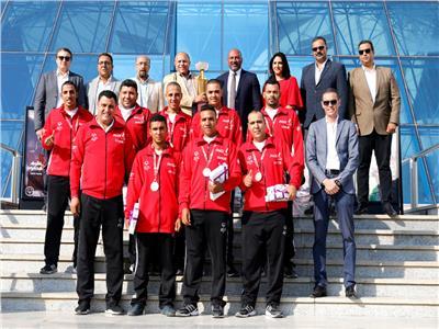 WE تكريم البعثة المصرية للأولمبياد الخاص المصري