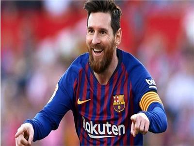 ليونيل ميسى لاعب فريق برشلونة