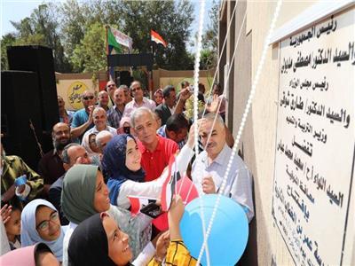 محافظ المنوفية يفتتح مدرسة عمر بن الخطاب الثانوية المشتركة بالأطارشة