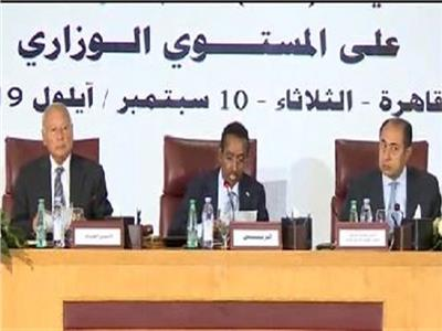 الجلسة الافتتاحية لاجتماع وزراء الخارجية العرب