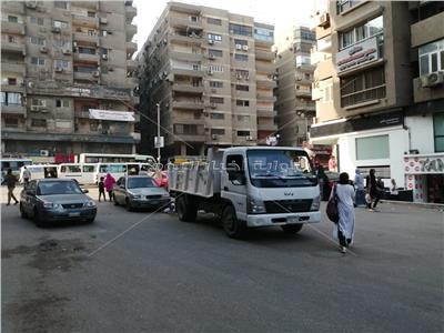 حملات لرفع الاشغالات بشوارع العريش والمنشية والتحرير والنور