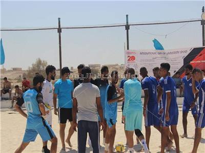 انطلاق فعاليات المهرجان الثاني للألعاب الشاطئية للجامعات المصرية