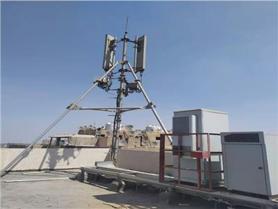 إزالة شبكة محمول مخالفة بمدينة نصر