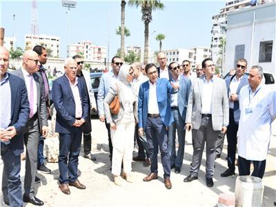 جانب من زيارة وزيرة الصحة لمستشفى رمد بورسعيد