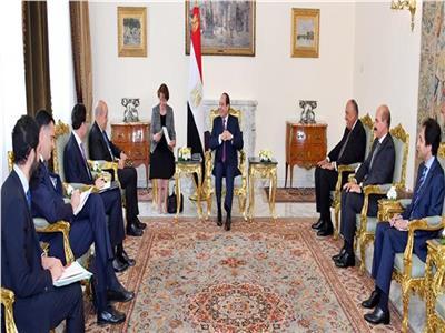 اجتماع الرئيس عبد الفتاح السيسي مع لودريان