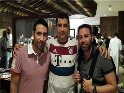 هيثم فاروق مع محمد أبو تريكة وحازم إمام