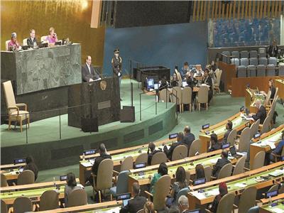 الرئيس السيسي يلقي كلمته خلال الاجتماع الـ73 للجمعية العامة - أرشيفية