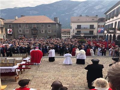 الكنيسة الارثوذكسية تشارك في احتفالات عيد القديس موريس بسويسرا