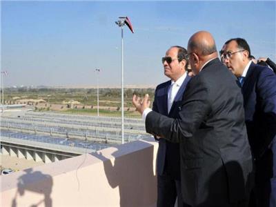 الرئيس السيسي خلال افتتاح أحد المشروعات الزراعية