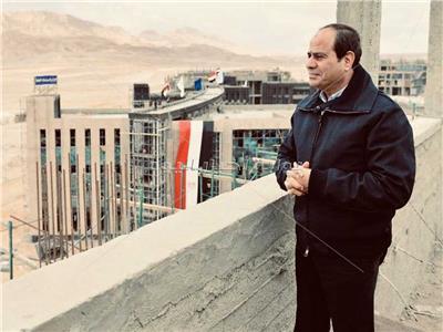 الرئيس عبد الفتاح السيسى في المتحف الكبير