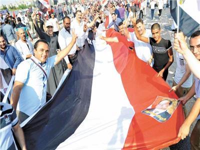 صورة من تظاهرات دعم الرئيس عبد الفتاح السيسي