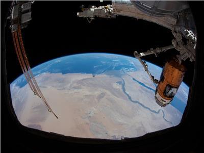صورة لنهر النيل التقطها هزاع المنصوري من الفضاء
