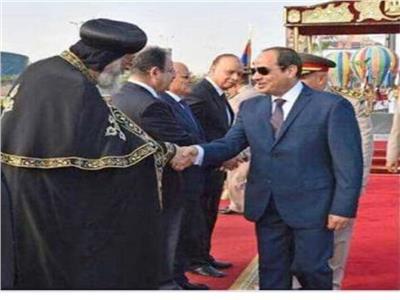 البابا تواضروس يشارك في احتفالات مصر أكتوبر