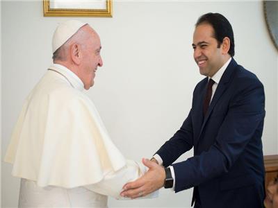 تكَرَّيم البابا فرانسيس بابا الكنيسة الكاثولوكية للمستشار محمد عبد السلام