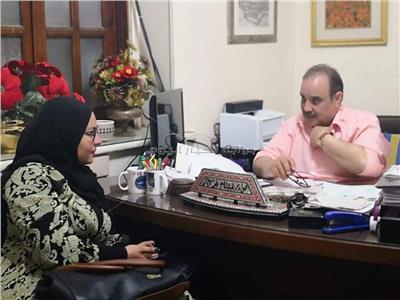اللواء هشام فرج ومحررة بوابة أخبار اليوم